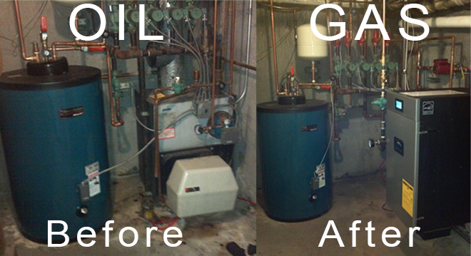 Oil to gas conversions alan feldman plumbing heating corp for Gas home heating systems