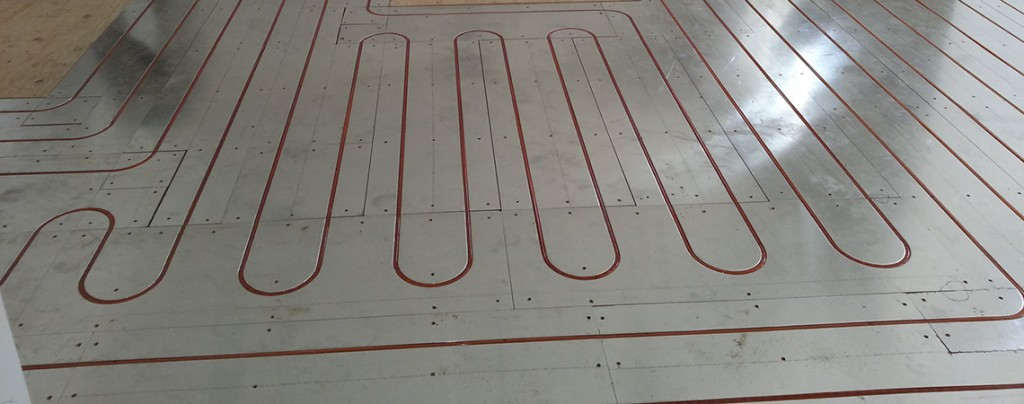 Custom Radiant Heating - Kitchen, under wood flooring
